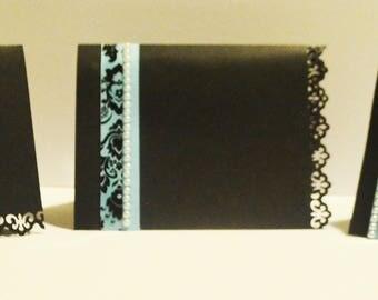 Black Lace Blank Stationary Card Set