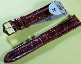 "Mark HIRSCH ""prestige"" 18 mm leather watch band"