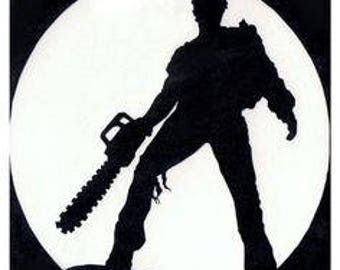 Evil Dead Ash Chainsaw Horror Vinyl Car Decal Bumper Window Sticker Any Color Multiple Sizes