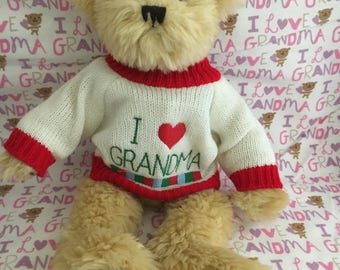 Love gramma teddy bear