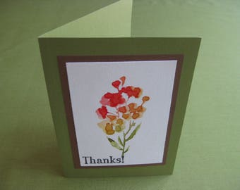 "Handmade Card -  Floral Bouquet ""Thanks"""