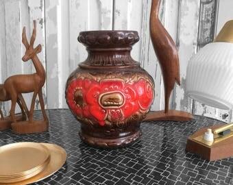 70s Scheurich poppy vase / 70 s poppy vase by Scheurich