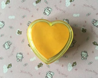 Eraser collection eraser vintage 80 s yellow heart in a box