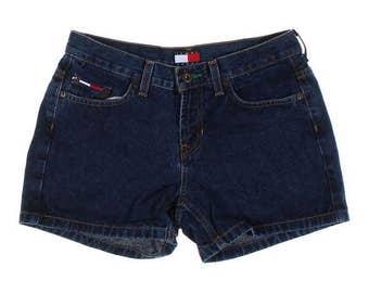 Women's Vintage 90s Tommy Hilfiger Jeans Sz 5 Dark Wash Denim Shorts
