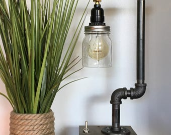 """Industrial Pipe Lamp - """"The Question Mark"""""""