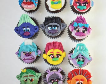 Cute TROLLS toppers