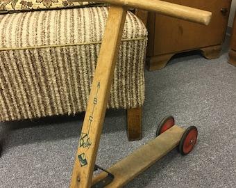 Vintage Scooter wooden scooter vintage of old roller wooden roller
