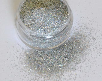 Beautiful Cosmetic Glitter Holographic Silver
