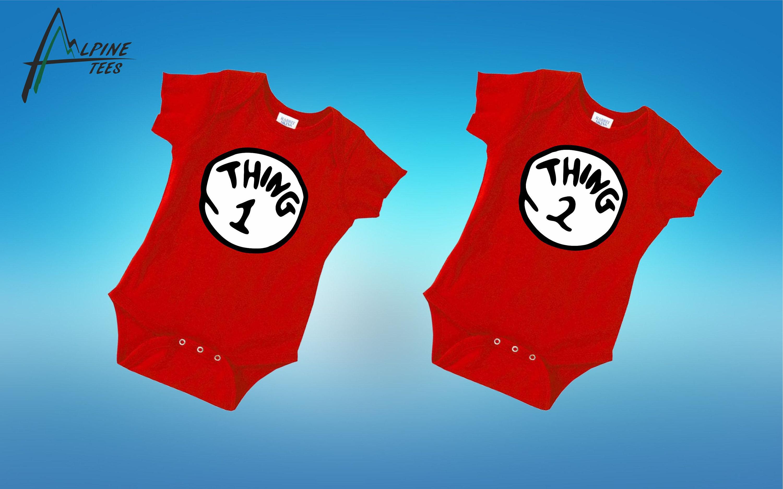 Thing 1 Thing 2 Shirt Thing 1 Shirt Baby Matching Shirts Twin