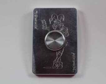 Joker fidget toy cnc machined spinner aluminum ceramic bearing