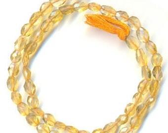 Citrine Oval Shape Beads
