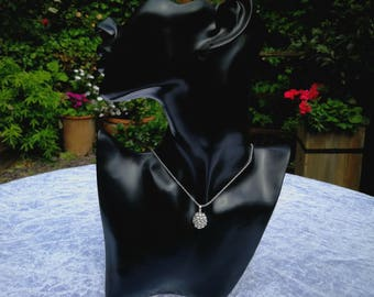 Blackberry pendant, Sterling Silver or Argentium Silver. Free chain and UK delivery