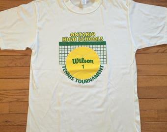 90s Ontario highschool tennis tourny tee