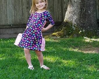 Girls Knit Pocket Dress