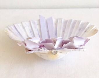 flower shell wedding ring holder
