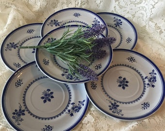 Copeland Spode Blue Gloucester Pattern - Salad Plate ENGLAND - Blue And White