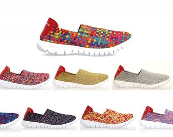 Ladies Woven Womens Trainers summer pumps for Ideal for beach and day to day wear super comfy Sneakers