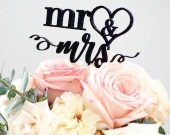 """Mr & Mrs Wedding Topper - """"In My Heart"""""""