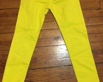 Neon yellow Gap Skinny Jeans