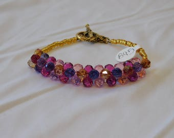 Purple & Pink Swarovski  Crystal Bracelet