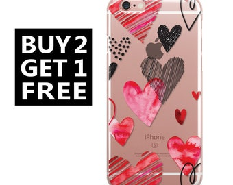 Case For Galaxy S9 silicone with hearts Galaxy s8 plus case galaxy s7 case galaxy s7 edge galaxy j7 galaxy j7 2016 galaxy j5 galaxy on8 13