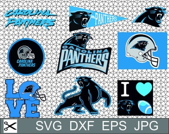 Carolina Panthers Logo SVG Eps Dxf Vector Design Digital Download Silhouette Studio Cameo Cricut Design Printable Cut File Decal Vinyl