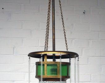 Art Nouveau lamp - brass - rods - art nouveau