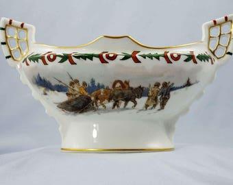 Antique Russian Porcelain Dish Kornilov-Bros.