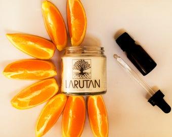 LARUTAN Orange hand made soy candle