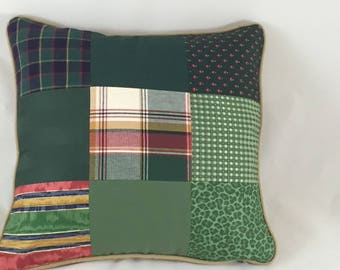 Old world inspired Nostalgic  patchwork front cushion cover
