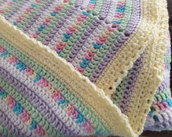 Pastel Swirl Baby Blanket