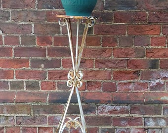 Vintage wrought iron plant stand French country shabby chic