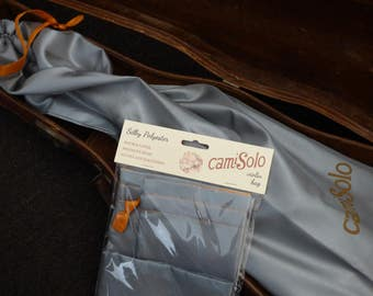 camiSolo Violin Storage Bag, grey/orange polyester, to protect your violin in its case