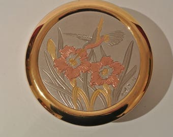 The Art of Chokin Japanese trinket Box Edged with 24KT Gold