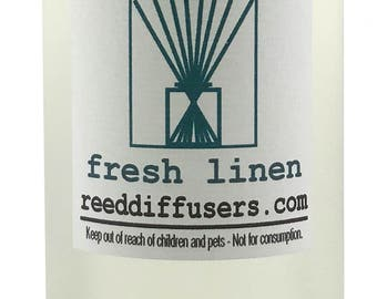 8 oz Fresh Linen Fragrance Reed Diffuser Oil Refill  - Made in the USA