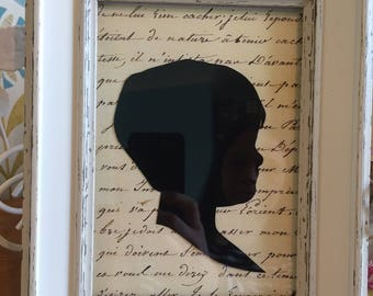 Hand cut framed silhouettes from your photo