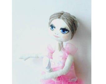 Ballet dancer  Textile doll  Art doll Soft doll  Ballete