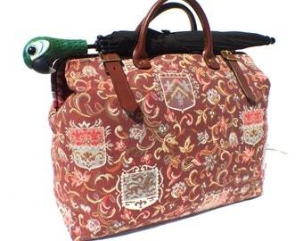 The Heraldic Fabric 'Carpet' Weekender travel Bag, Hand Made in England, Free Shipping Worldwide!