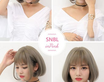 Cosplay Bob Style Wig Natural Gray Colour