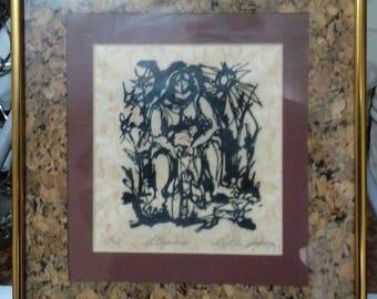 "Original Intaglio Print ""Strings"" by Ruth Anaya"