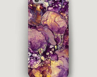 Purple iPhone 5S Case, Stone iPhone 5C Case, Granite iPhone 4 Case, Galaxy S7 Case, Apple Case, Marble iPhone 7 Case, Case for iPhone 6