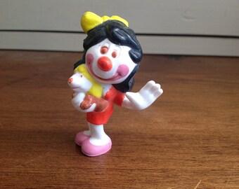 Vintage plastic clown around figure Victoria clown 1981