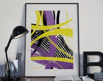 ORIGINAL ABSTRACT POSTER, digital art, home decoration, instant download