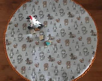 Animals and Teepees Playmat / Nursery / Decor