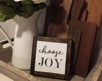 Choose Joy - Wooden Sign