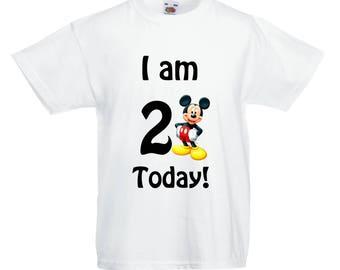 Mickey Mouse Birthday T shirt! ANY AGE