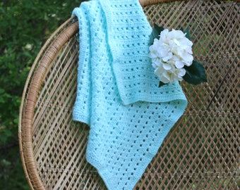 Cozy and Soft Baby Blue Blanket