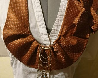 One Of A kind, Upcycled Tie Collar
