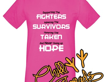 Supporting the fighters, cancer, race for life, race4life , T-Shirt, Tshirt