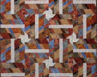 Tilting For Fun quilt pattern by The Quilted Button